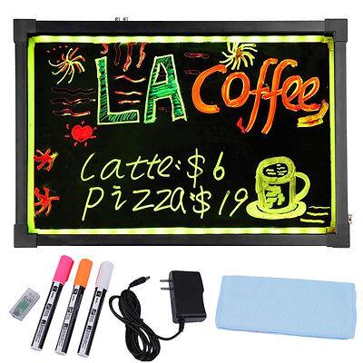 Flashing Illuminated Erasable Neon Led Message Writing Board Menu Sign 16x12