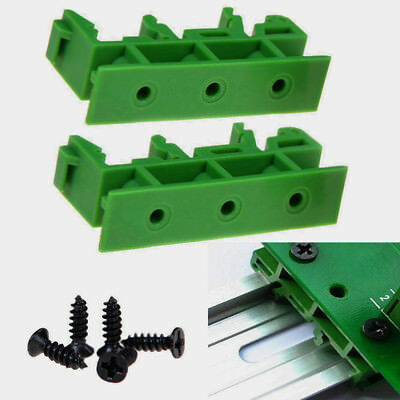 35mm PCB Din C45 Rail Adapter Circuit Board Mounting Bracket Holder Carrier Kit ()