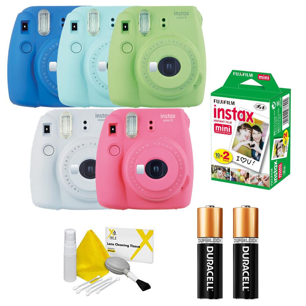 Fujifilm instax mini 9 Fuji Instant Film Camera All Colors +