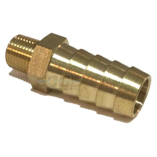 1/2 HOSE BARB X 1/8 MALE NPT Brass Pipe Fitting NPT Thread Gas Fuel Water Air