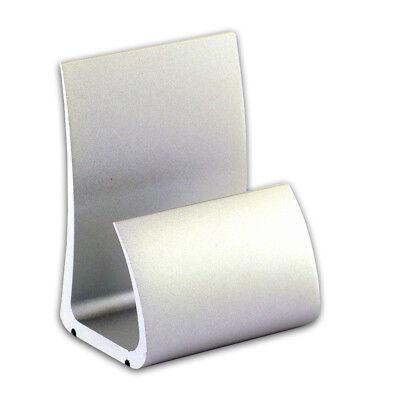 Matte Finish Aluminum Business Card Holder Desktop Iphone Holder