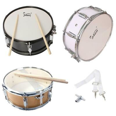 """3 Colors Metal & Poplar Wood 14 x 5.5"""" Marching Snare Drum & Drum Stick & Strap"""