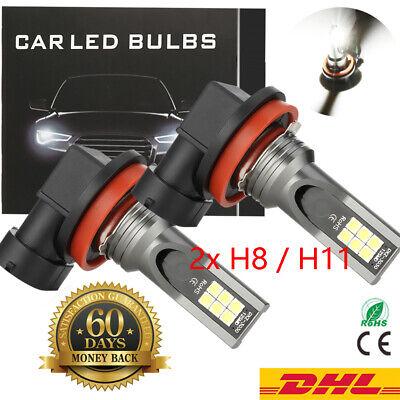 2× 90W H11 LED Scheinwerfer kit 10000LM SMD xenon Weiß Headlight 6000K Birnen