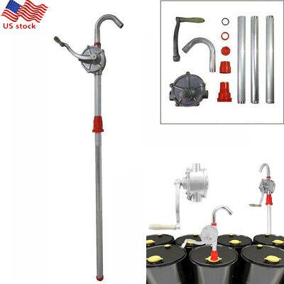 55 Gallon Drum Rotary Hand Pump 10gpm Diesel Oil Fuel Gas Barrel Heavy Duty 50