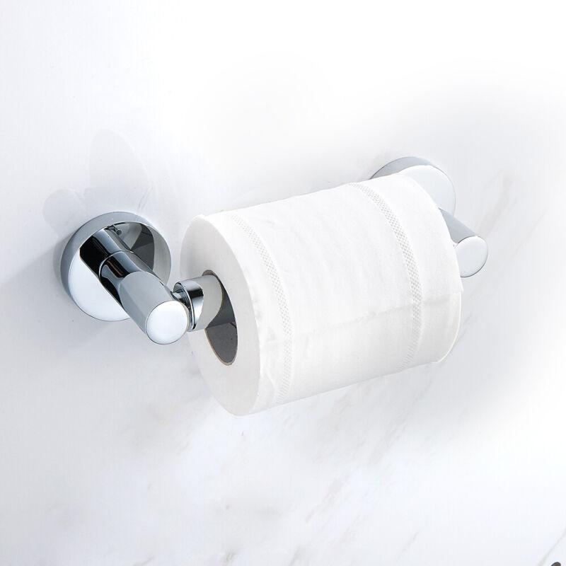Square Bathroom Bar Toilet Roll Holder High Shine Polished Chrome Finish Hanger