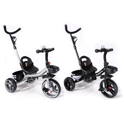 Scoopie Trike 2in1 Dreirad Schubstange Freilauf Korb Gurt