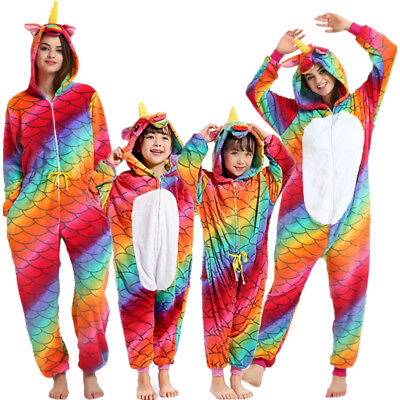 Unisex Unicorn Costumes Pyjamas Animal Cosplay Kigurumi Outfit for Adult Kids - Animal Outfits For Adults