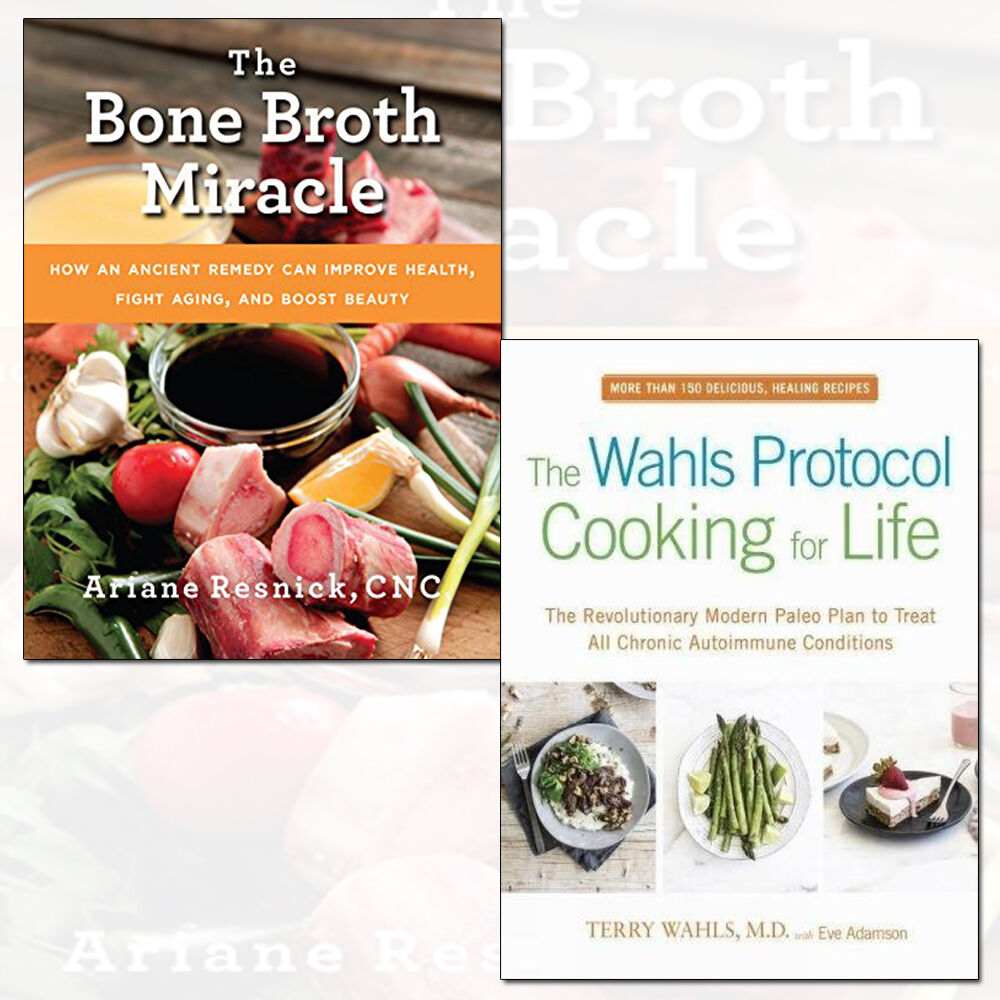 Details about Wahls Protocol Cooking for Life and Bone Broth Miracle 2  Books Collection Set UK