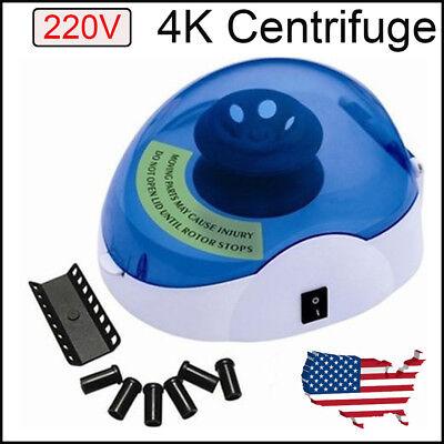 220v Mini Centrifuge Professional Laboratory Microcentrifuge 4k 4000 Rmin Usa