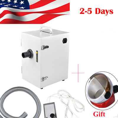 Dental Lab Equipment Digital Single-row Dust Collector Vacuum Cleaner 370wgift