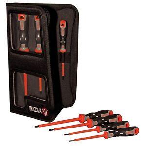 Irazola (Bahco) VDE Screwdriver Set 7pc - Electricians Insulated 1000v Bacho