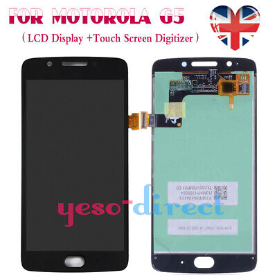 For Motorola Moto G5 LCD Screen Display Touch Digitizer Glass Black Replacement