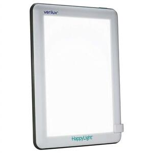 NEW Verilux HappyLight Lucent 10000 Lux LED Bright White Light Therapy Lamp Condtion: New