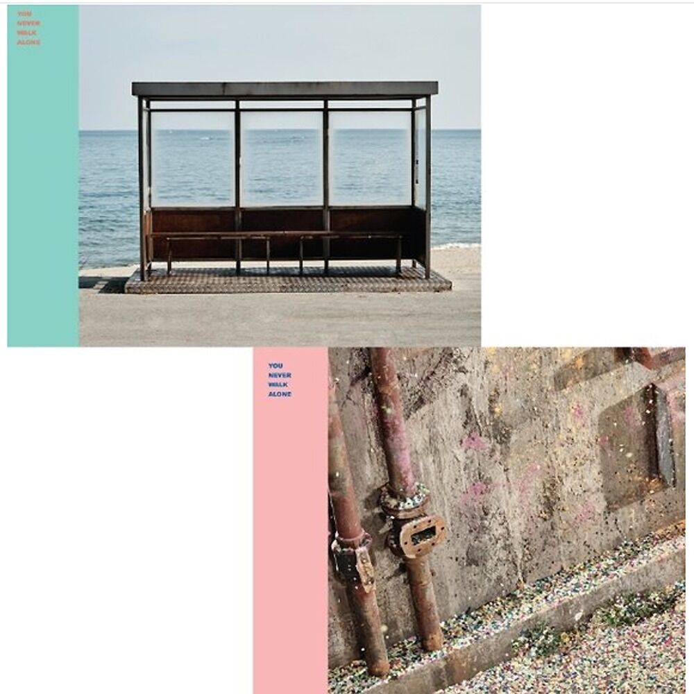 el BTS-WINGS-YOU NEVER WALK ALONE Album RIGHT Ver CD,Photo Book,Card