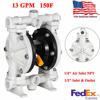 12 Polypropylene Air-operated Double Diaphragm Pump 13 Gpm 150f 100psi Us