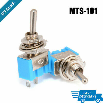 10pcs Ac 125v 6a Mts-101 2 Pins Spst Switches Onoff Mini Toggle Switch