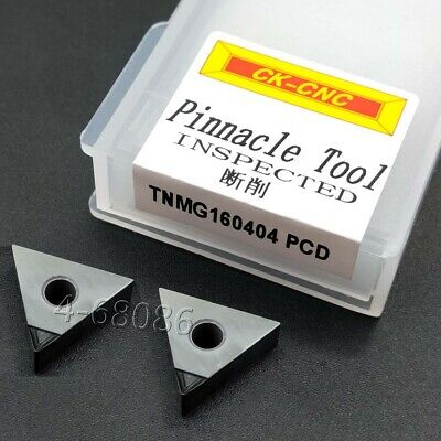 Tnmg160404 Pcd Lathe Groove Carbide Inserts For Aluminum Polycrystalline Diamond