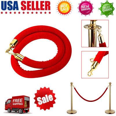Samger Samger 150cm Velvet Barrier Rope Crowd Control Post Queue Line with Hooks Silver