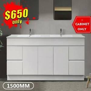 1500mm Bathroom Vanity Cabinet Ceramic Finger Pull Luca *BRAND NEW*