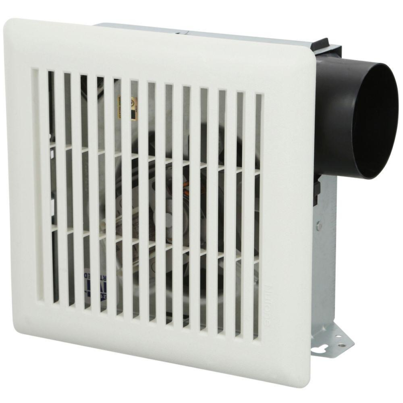 Wall + Ceiling Bathroom Exhaust Fan White Compact 50 CFM Ven