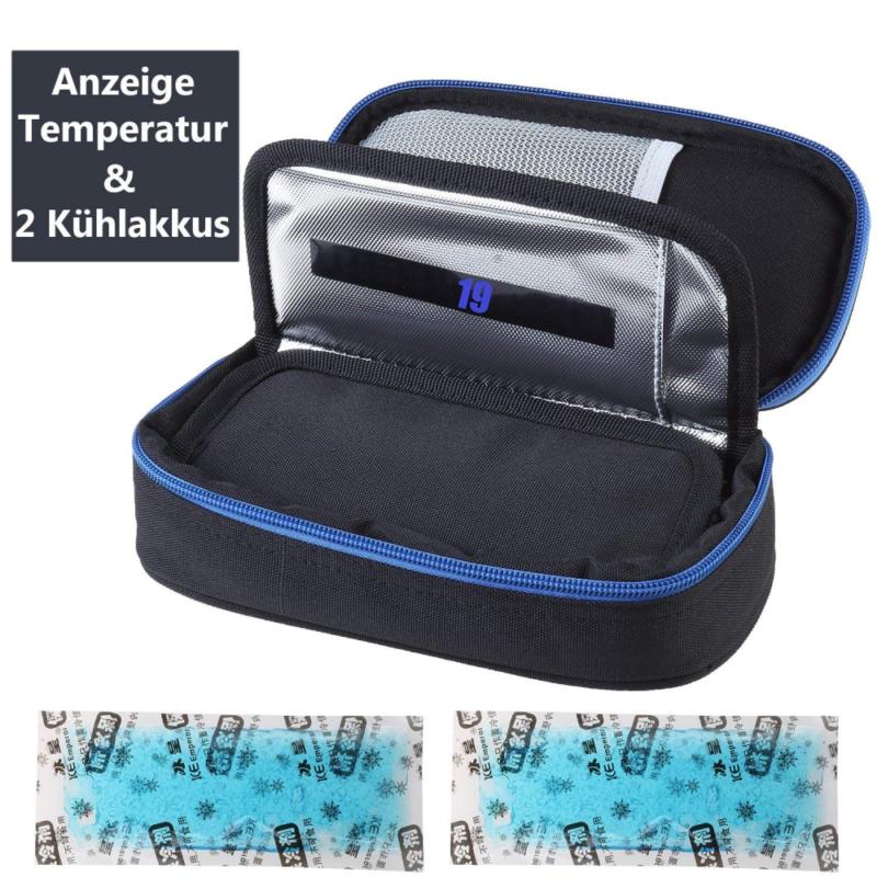 Insulin kühltasche Diabetiker Tasche Medikamenten für Diabetikerzubehör mit Kühl