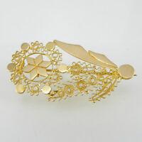 Spilla Donna In Oro Forma Fiore Filigrana Realizzata A Mano Artigianato Sardegna -  - ebay.it