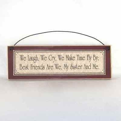 BEST FRIEND SISTER relationship Sign Country Home Decor