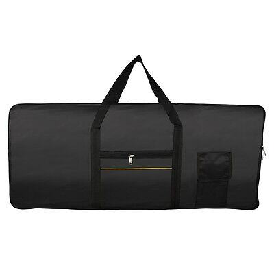 Portable 61Key Keyboard Electric Piano Padded Case Gig Bag Advanced Fabric Black
