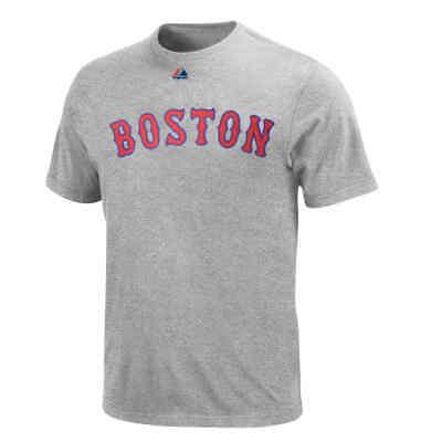Boston Red Sox Men's Steel Heather Gray Road - Boston Red Sox Heather