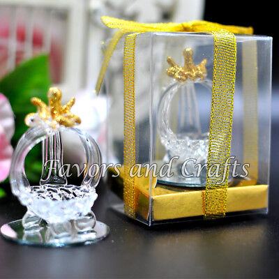 12 Quinceanera Favors Recuerdos Cinderella Glass Carriage Mis XV Sweet 15 16](Sweet 16 Favors)