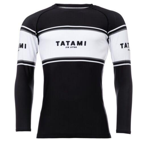 Tatami Fraction BJJ Rash Guard Adult Black MMA Compression Top No Gi Grappling