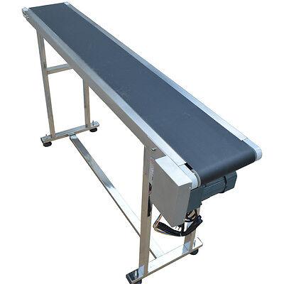 110v 59 X 7.8 Conveyor Belt Adjustable Speed Motor Conveyor Systems New Item