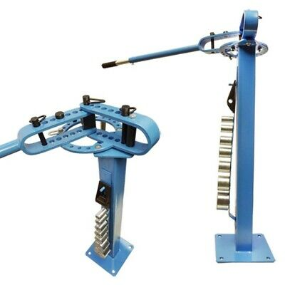 "Manual Floor Mountable Pedestal Compact Metal Bender Bending 7 Dies 1"" - 3"