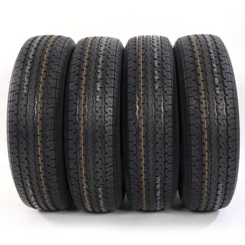 Four ST225/75-15 Load Range D left and right factory direct  Trailer Tires