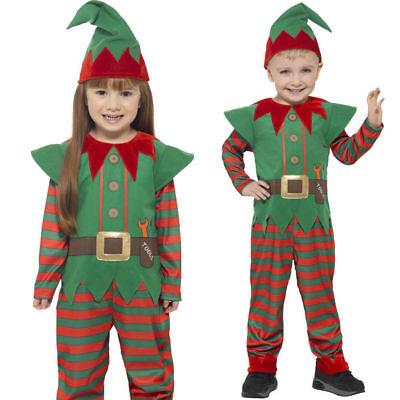 Kleinkinder Elfe Kostüm Kinder Weihnachtsmann Helfer Mädchen - Kleine Grüne Mann Kostüm