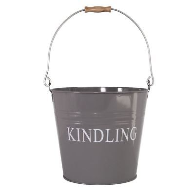 Kindling Bucket Grey Fire Coal Ash Log Wood Storage Basket Hod By Home Discount
