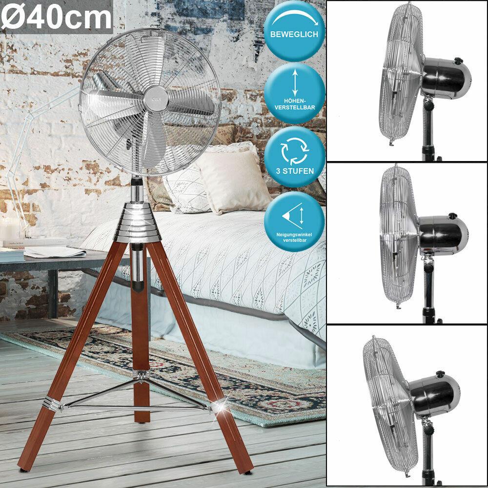 Ventilator 50 W Lüfter 3-Stufen Holz Stativ Wohnraum Kühler höhenverstellbar AEG