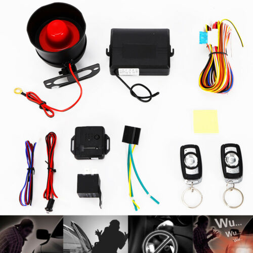 Anti-hijacking 1-Way Car Alarm Security System Shock Keyless Entry Emergency New