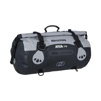 Oxford Aqua T70 Waterproof Motorcycle Luggage Roll Bag Grey/Black