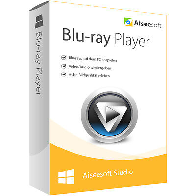 Blu-ray Player Aiseesoft Studio dt.Vollver. Lebenslange Lizenz Download 14,99
