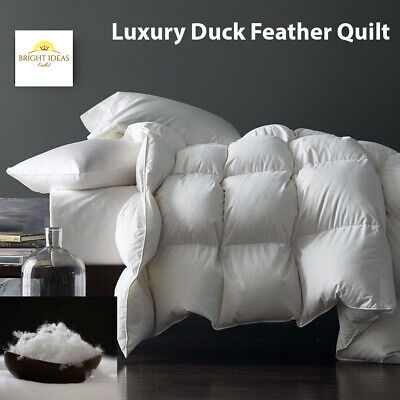 Luxury Duck Feather Duvet Quilt 13.5 Tog Bedding All Sizes Hotel Quality