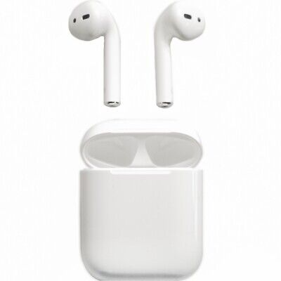 Apple AirPods 2 Generation In-Ear Headset white + Ladecase Bluetooth Ohrhörer
