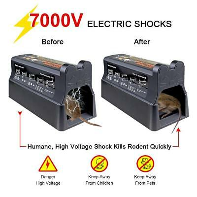 Electronic Mouse Rat Trap Rodent Pest Control Killer electric Zapper US Plug