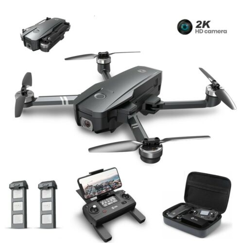 Holy Stone HS720 GPS drone with 2K camera brushless foldable 2 battery case 5G