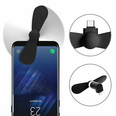 Ventilador movil portable mini USB tipo C para smartphone, Tablet, Notebook