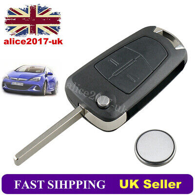 For Vauxhall Opel Corsa Astra Vectra Zafira Service 2 Button Remote Key Fob Case