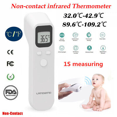USA Infrared Thermometer Digital Fahrenheit Forehead No-Touch Body Adult FDA CE