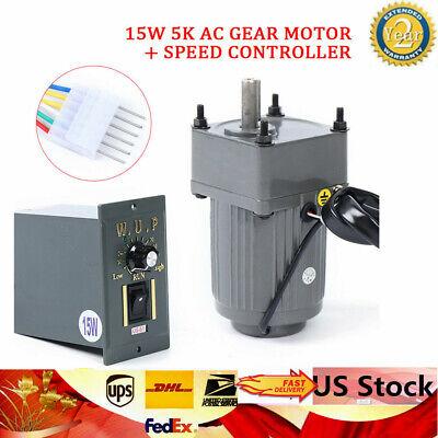 110v15w 5k Ac Gear Motor Electric Variable Speed Adj. Controller Motion Control