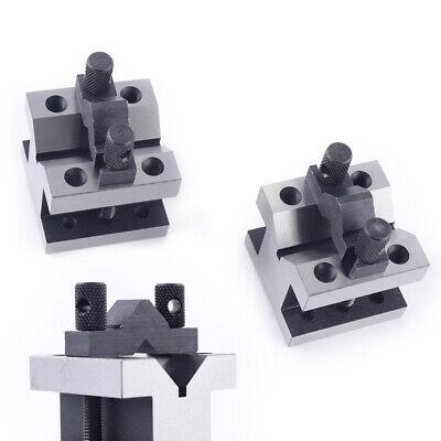 Steel V-shap Block Set Precision V Blocks Clamp Tool Gauge Toolholding Usa
