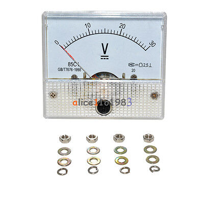 Dc 30v Analog Panel Volt Voltage Meter Voltmeter Gauge 85c1 0-30v